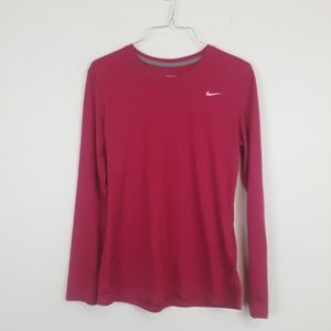 Nike Dry fit pink exercise top size medium